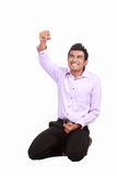 Happy man celebrating his success Royalty Free Stock Photos