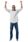 Happy man celebrating his success Stock Photo