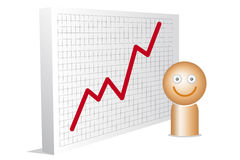 Happy man with chart Stock Photos