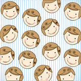 Happy man with cheeks background icon Royalty Free Stock Image