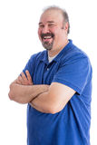 Happy Man with Closed Arms in a Toothy Smile Royalty Free Stock Images