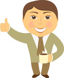 Happy man with coffee cup Royalty Free Stock Images