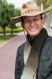 Happy man with cowboy hat portrait Royalty Free Stock Photos
