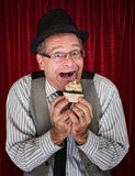 Happy Man with Cupcake Stock Photos