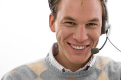 Happy man - customer service Royalty Free Stock Photography