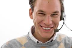 Happy man - customer service Royalty Free Stock Photography