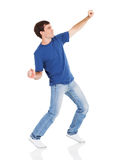 Happy man dancing Royalty Free Stock Photos