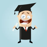 Happy man with degree. Illustration of a happy man with degree Royalty Free Stock Images