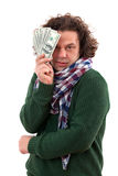 Happy man with dollars Stock Photography