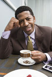 Happy Man Drinking Coffee Royalty Free Stock Photos