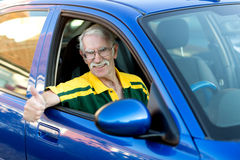 Happy man driving a car Royalty Free Stock Photo