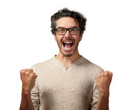 Happy man. royalty free stock images