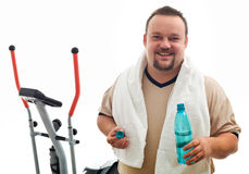 Happy man after exercising Royalty Free Stock Image