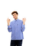 Happy man gesture ok Stock Image