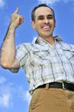 Happy man gesturing Royalty Free Stock Image