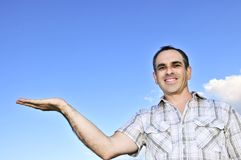 Happy man gesturing Stock Photography