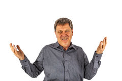 Happy man gesturing all right Royalty Free Stock Photo