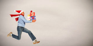 Happy man with gifts Stock Photos
