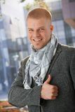 Happy man giving thumb up Stock Photography