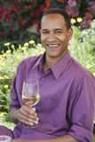 Happy Man With A Glass Of Wine Royalty Free Stock Image