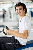 Happy man at the gym Royalty Free Stock Images