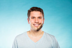 Happy man with half shaved face beard hair. Stock Photography