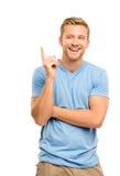 Happy man Has an idea. Smiling portrait Stock Photos