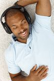 Happy man with headphones Royalty Free Stock Photos
