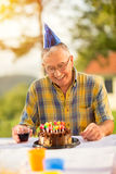 Happy man on his birthday Royalty Free Stock Image