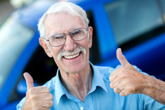 Happy man with his car Stock Photo