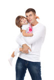 Happy man and his daughter Royalty Free Stock Image
