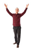 Happy man with his hands raised up Royalty Free Stock Photo