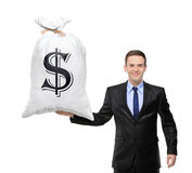 Happy man holding a bag Royalty Free Stock Photo