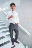 Happy man holding flute of champagne Stock Image