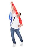 Happy Man Holding An Netherlands Flag Stock Photography