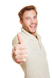 Happy man holding thumbs up Royalty Free Stock Photos