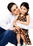 Happy man hugging girl Stock Image