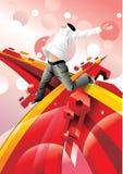 Happy man illustration Royalty Free Stock Photography