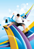Happy man illustration Stock Image