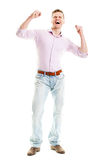 Happy man isolated full body Stock Images
