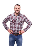 Happy man isolated on white Stock Photos