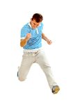 Happy man jumping Royalty Free Stock Photography