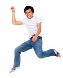 Happy man jumping Royalty Free Stock Images