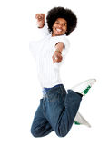 Happy man jumping Royalty Free Stock Image