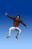 Happy Man Jumping Stock Images