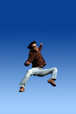 Happy man jumping Royalty Free Stock Photo