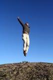 Happy man jumping Royalty Free Stock Image