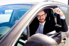 Happy man just boght the car Royalty Free Stock Photography