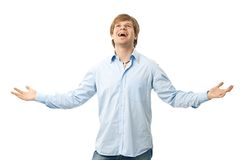 Happy man laughing Royalty Free Stock Photo