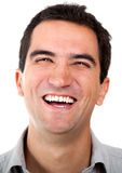 Happy man laughing Stock Photography